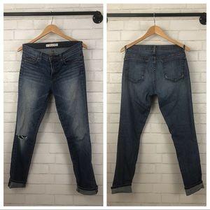 J Brand Dark Wash Slouchy Boyfriend Jeans